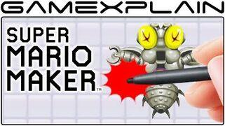 Super Mario Maker - Secret Mario Paint Fly Swatting Game! (Easter Eggs)