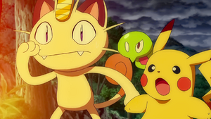 Pikachu and Meowth with Z-1