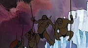 Sub-humans cheering in Icepeak