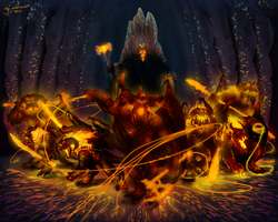 The balrogs of morgoth by thylacinee-d5pl60x