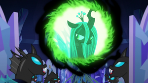 Changelings laughing with triumph S6E25