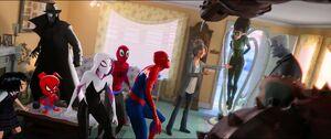 Spider-Gang facing Villains