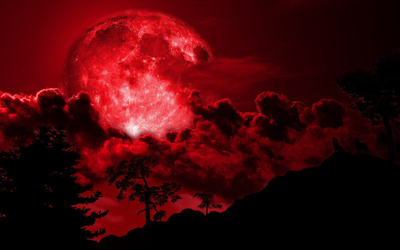 red moon at night meaning - photo #12