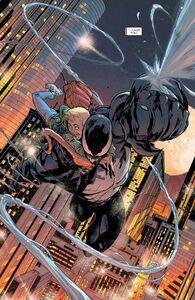 Venom (Klyntar) (Earth-616) Dylan Brock (Earth-616) and Edward Brock (Earth-616) from Venom Vol 4 26 0001
