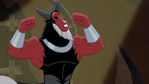 Lord Tirek flexing his muscles S9E8