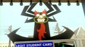 Cartoon Network City Bumper Aku's Student ID
