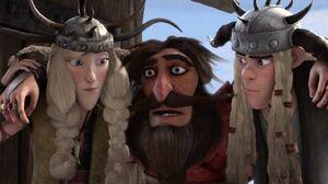 Johann with Ruffnutt and Tuffnut