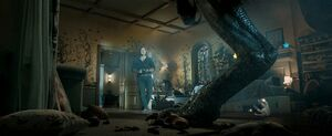 Owen and Indoraptor in Maisie's room