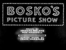 Bosko's Picture Show (1933)