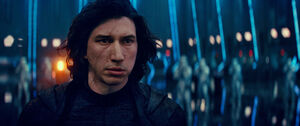 Kylo in the First Order's ship TROS