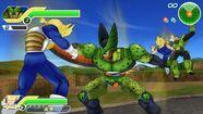 DBZ TTT Semi-Perfect Cell takes Future Trunks ASSJ's life,Vegeta SSJ kicks Android 16