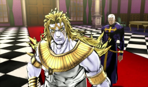 Enrico Pucci with God-like Dio