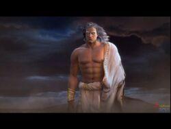 Zeus creating the Blade of Olympus