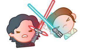 Emoji Kylo and Rey
