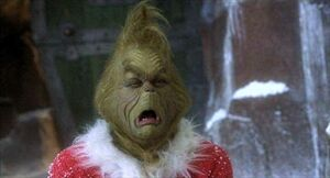 Grinch crying