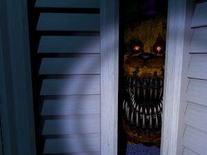 Nightmare Fredbear Closet