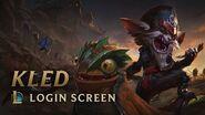 Kled, the Cantankerous Cavalier Login Screen - League of Legends