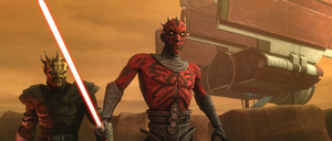 Darth Maul confrontational