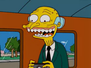 Mr burns creepy