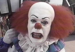 Pennywise's angry glare