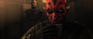 Darth Maul drinking