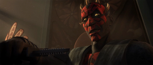 Darth Maul seated