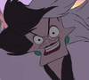 Cruella de Vil smirking evilly