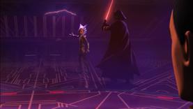 Darth Vader sneaks
