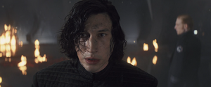 Kylo wakes up throne room