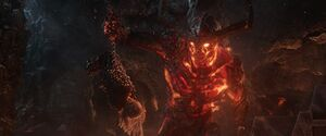 Thor is captured by Surtur
