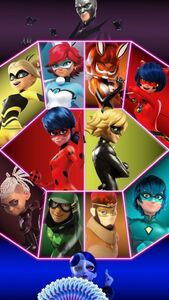 Ladybug and Cat Noir with new Teams and Villians