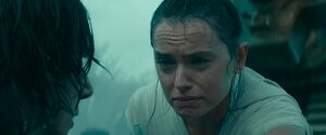 Rey crying after healing Kylo