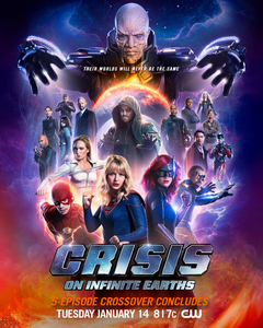 Crisis on Infinite Earths poster - Their worlds will never be the same
