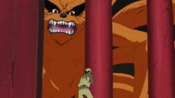 Kurama helps Naruto