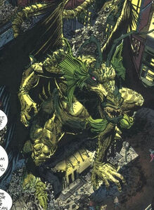 Aan Taanu (Earth-616) possessing Fin Fang Foom (Earth-616) from The Legion of Night Vol 1 2 0001