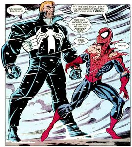 Edward Brock & Peter Parker (Earth-616) from Amazing Spider-Man Vol 1 375 0002