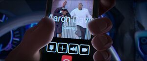 Young Aaron and Jefferson Davis on Jefferson's phone