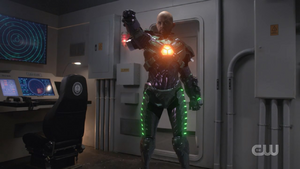 Lex using his Lexosuit