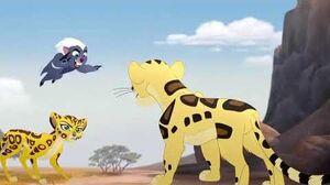 The Lion Guard The Golden Zebra - Makucha's Attack Scene HD
