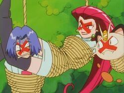 Team Rocket in Ropes