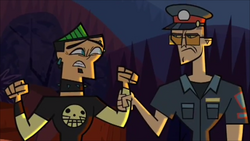 Duncan is arrested, for destroying private property and he is removed from the competition.