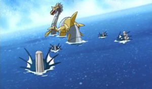 MetalSeadramon Speaks to Divermon
