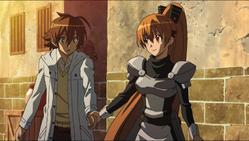 Seryu holding tatsumi's hand