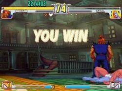 Akuma defeats Gill
