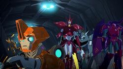 Decepticon Island's Leadership Trio and 1 Fixit-type Mini-Con