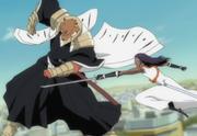Komamura stops Kaname Attack Hirako