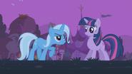 Trixie speaks to Twilight