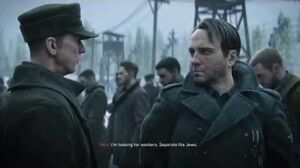 "Call of Duty WWII - Ambush Robert Zussman ""They're Going After Jews"" Nazi Shoots American Cutscene"