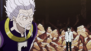 Chrollo and Zeno talking after their battle
