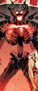 Cletus Kasady (Earth-616), Grendel (Klyntar) (Earth-616), and Venom (Klyntar) (Earth-616) from Absolute Carnage Vol 1 4 001